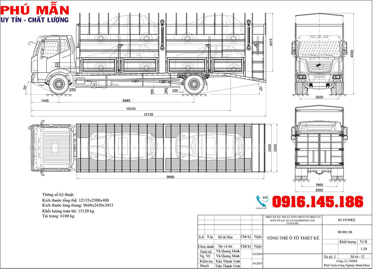 xe tải chở ô tô