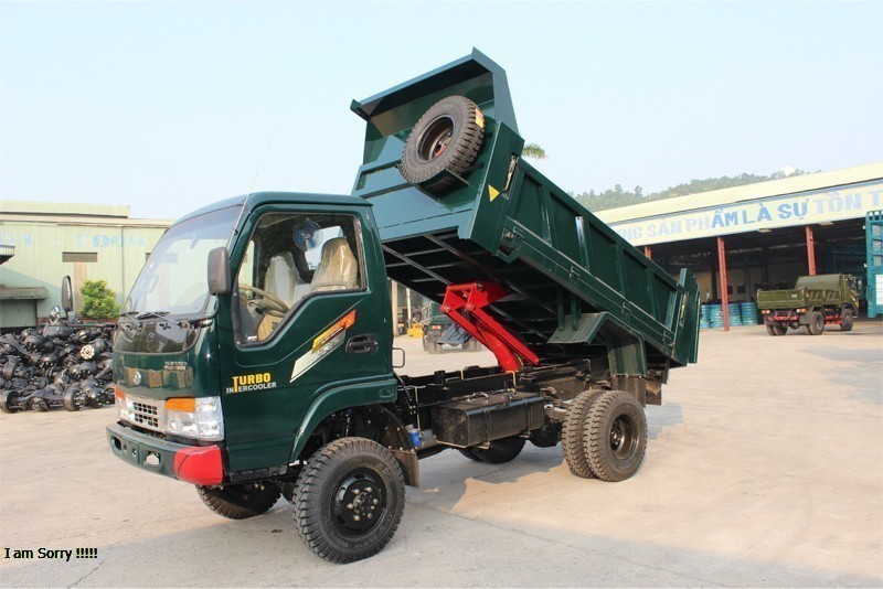 Kết quả hình ảnh cho Xe tải ben Chiến Thắng 3.9 tấn 1 cầu
